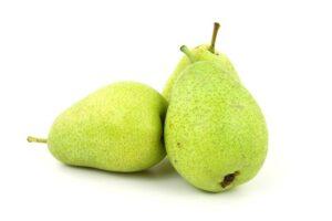 Tre grønne små pærer