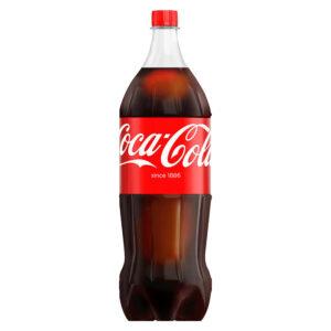En stor plastflaske Cola