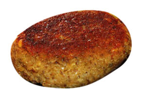 En stekt kjøttkake