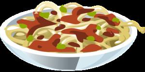 Illustrasjon av spagetti